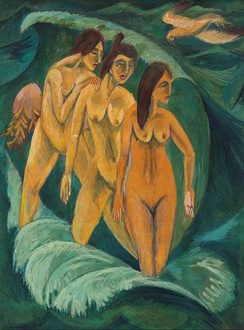 Ernst Ludwig Kirchner, Three Bathers,1913
