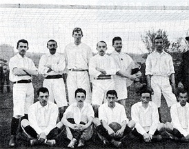 The team that won the first German league championship in 1903.