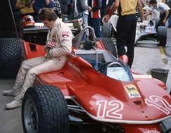 Canadian Gilles Villeneuve finished runner-up in the Drivers' Championship to Ferrari teammate Scheckter.