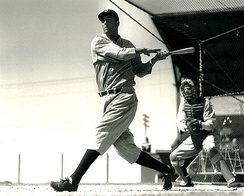 Hank Greenberg in action for the Detroit Tigers in 1940