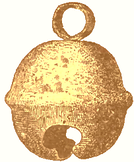 This copper bell was made by pre-Columbian North American natives.