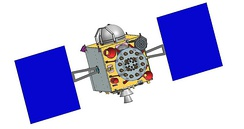 Rendering of an IRNSS Series 1 satellite
