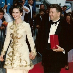 Rossellini with David Lynch at the Cannes Film Festival (1990)