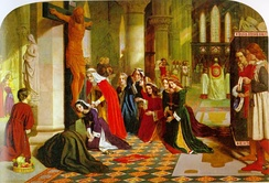 The Renunciation of St. Elizabeth of Hungary (1850) by the Pre-Raphaelite artist James Collinson, a convert to Catholicism