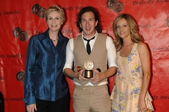Jane Lynch, Ian Brennan and Jessalyn Gilsig at the 69th Annual Peabody Awards for Glee