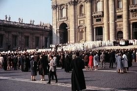 The opening of the second session of Vatican II
