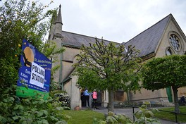 A church used as a polling station in Bath on 7 May 2015