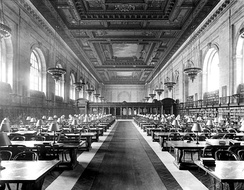 Main Reading Room of the New York City Public Library on 5th Avenue ca, 1910–1920