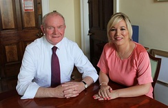 Michelle O'Neill replaced McGuinness as Sinn Féin's leader in the Northern Ireland Assembly in January 2017