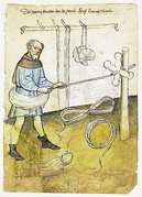 A ropemaker at work, c. 1425