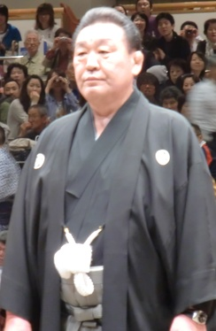 Sumo Association chairman Musashigawa stood down in August.