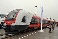 The Stadler Flirt for NSB Railways (now Vy) at Innotrans 2010