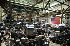 The NYSE trading floor in 2009