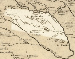 Nebraska in 1718, Guillaume de L'Isle map, with the approximate area of the future state highlighted.