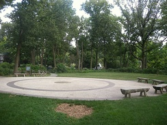 Old Flushing Burial Ground, used in 17th and 18th centuries, now a park