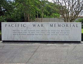 Marker of the Pacific War Memorial