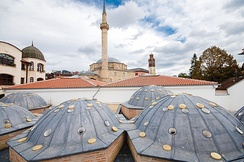 The Imperial Mosque is located in the old town of Pristina.