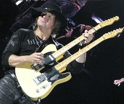 Sambora with a twin-neck Fender Telecaster, 2008