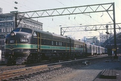 A Reading train departs Reading Terminal, September 1964