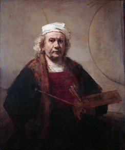 Rembrandt, Self-Portrait with Two Circles, c. 1665–1669, oil on canvas, Kenwood House, London