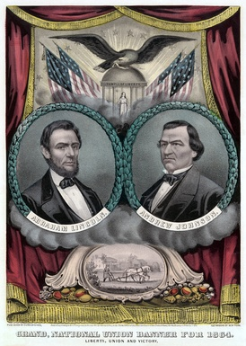 Lincoln and Johnson campaign poster