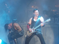 Rammstein performing at the Gold Coast Big Day Out in 2011