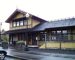 The historic Southern Pacific depot in Springfield