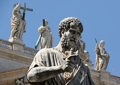 Statue of St. Peter in St. Peter's Square at the Vatican