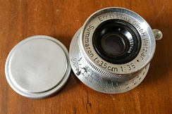 The Leica Summaron 35 mm f/3.5 screw mount introduced in 1948