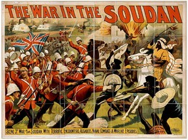 The Mahdist War was fought between a group of Muslim dervishes, called Mahdists, who had over-run much of Sudan, and the British forces.