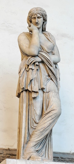 Statue of Thusnelda, wife of Arminius, at Loggia dei Lanzi, Florence.