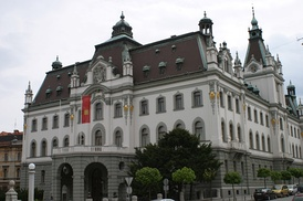 The Carniolan Parliament building. In 1919 it became the main building of the University of Ljubljana.