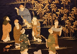 The Seven Sages of the Bamboo Grove, embroidery, 1860–1880