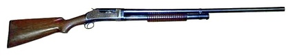 A Winchester M1897, one of the first successful pump-action shotgun designs