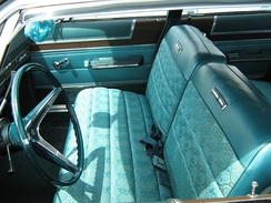1967 AMC Ambassador with standard three adult-sized front bench seat with reclining backs