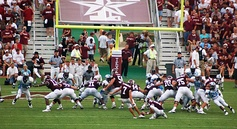 Texas A&M attempts a field goal against The Citadel in 2006