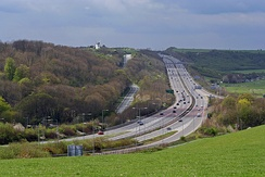 A27 near Brighton and Hove, East Sussex