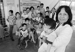 Handicapped children in Vietnam, most of them victims of Agent Orange, 2004