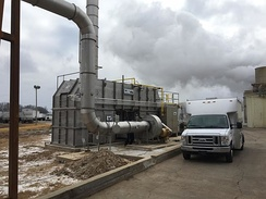 Thermal oxidizers purify industrial air flows.