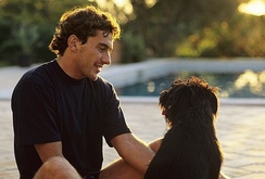 Senna at home in his native Brazil.