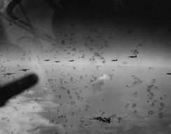 Formation flying through dense flak over Merseburg, Germany