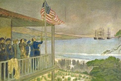 Sloat captures Monterey on July 7, 1846. Three days later, Frémont is officially informed the United States was at war with Mexico.