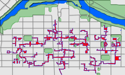 +15 network in downtown Calgary