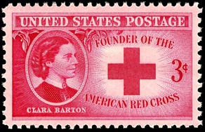 Clara Barton was honored with a U.S. commemorative stamp, issued in 1948