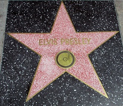 Presley's star on the Hollywood Walk of Fame at 6777 Hollywood Blvd