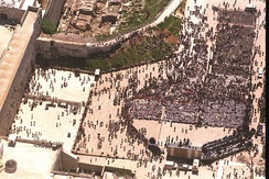Bar mitzvah for 1,000 immigrant boys from Russia at the Western Wall, 1995
