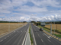 The 6 lane Naas Road, the final stretch of the M7 nearing Dublin.