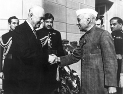 Eisenhower with Indian Prime Minister Jawaharlal Nehru