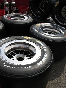 Firestone tires used for the Indianapolis 500 race.