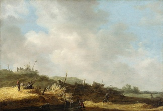 "Jan van Goyen, Dune landscape, c. 1630–1635, an example of the ""tonal"" style in Dutch Golden Age painting"